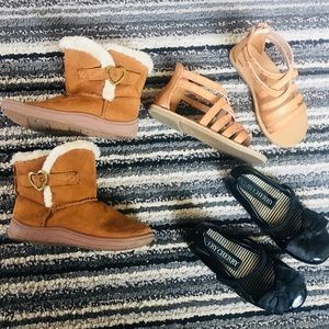 3 pairs of size 9 toddler shoes